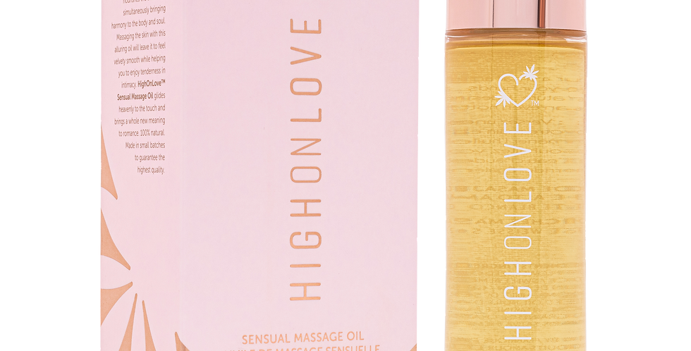 HighOnLove Sensual Massage Oil Decadent White Chocolate