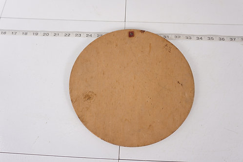 Pyrography Round Wood Plaque Of A Lady