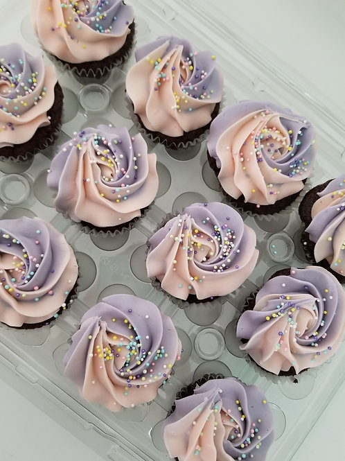 12 Mini Cupcakes - Mixed Pack