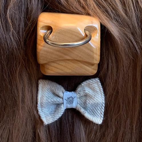 Tweed Bow Tie - Beige