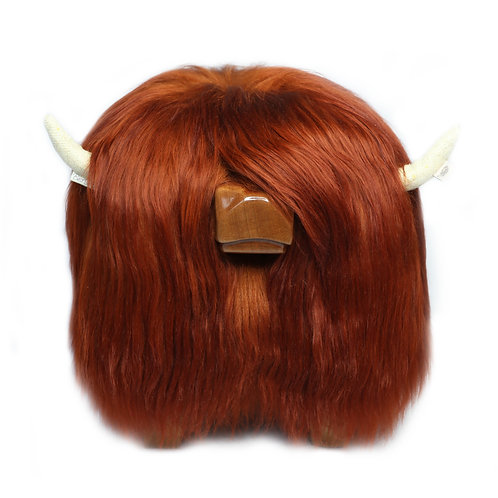 Highland Cow Footstool - Copper