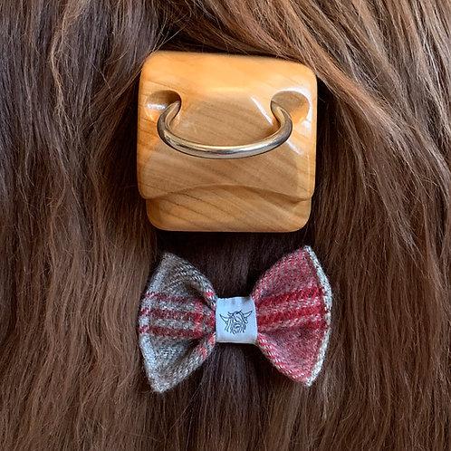 Tweed Bow Tie - Cranberry