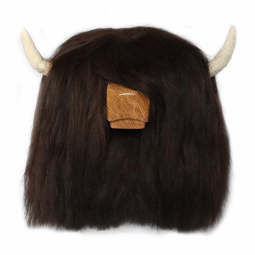 Highland Cow Footstool - Dark Brown