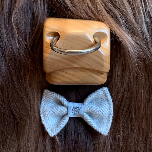 Tweed Bow Tie - Grey Mist