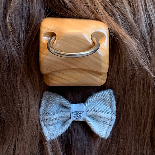 Tweed Bow Tie - Soft Grey