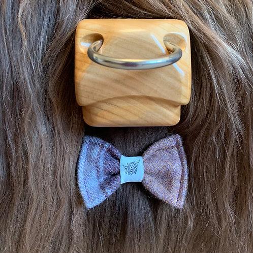 Tweed Bow Tie - Amethyst