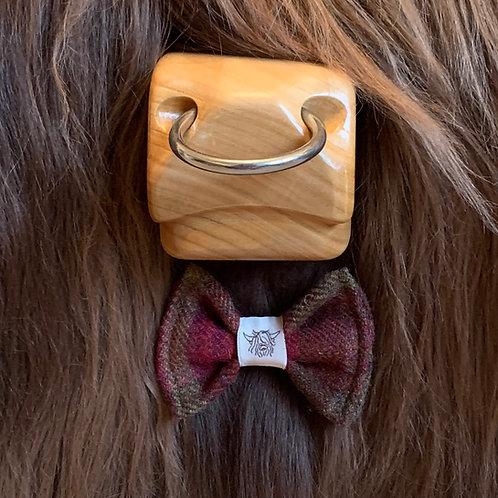 Tweed Bow Tie - Wine