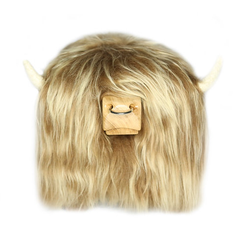 Highland Cow Footstool - Honey with Optional Nose ring