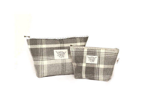 Charcoal Check Tweed Set