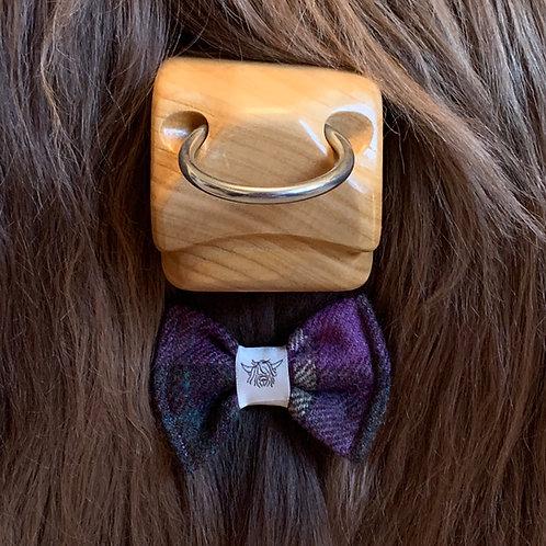 Tweed Bow Tie - Purple Grape