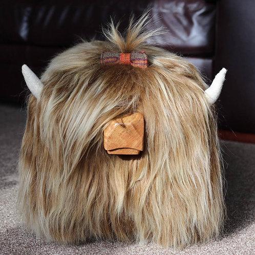 Hair Bow - Auburn Tweed