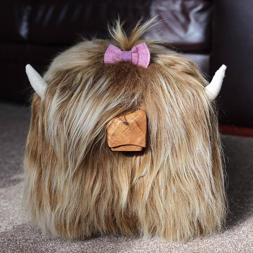 Hair Bow - Pink Tweed
