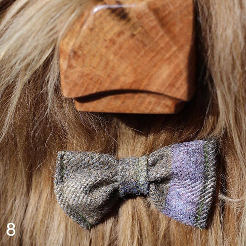 Bow Tie - Green/lilac Tweed