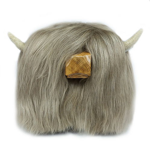Highland Cow Footstool - Taupe