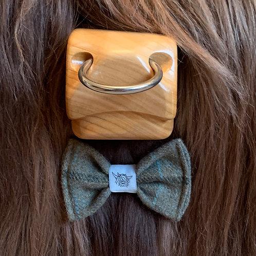 Tweed Bow Tie - Olive