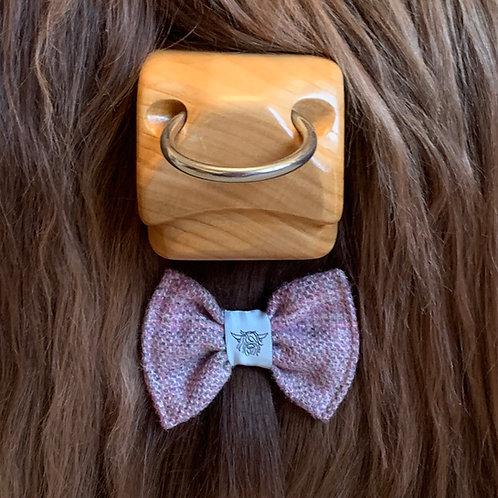 Tweed Bow Tie - Lavender