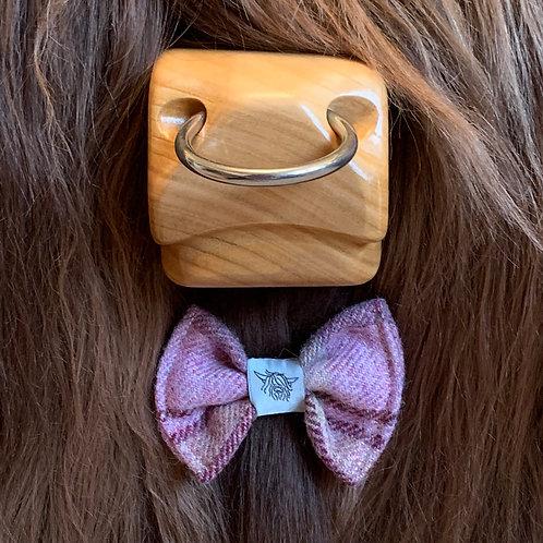 Tweed Bow Tie - Lilac