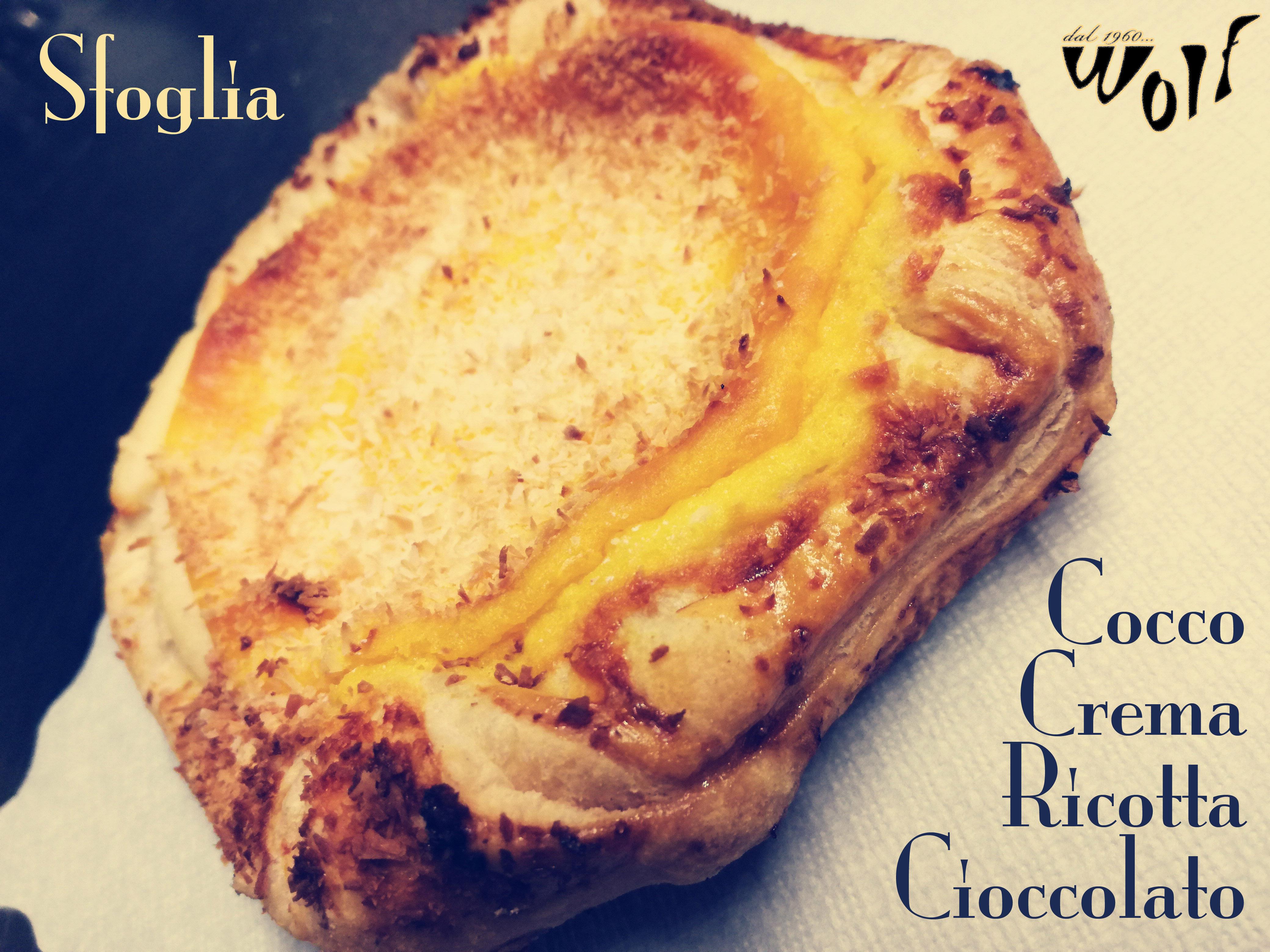 Sfoglia Cocco Crema Ricotta Cioccolato