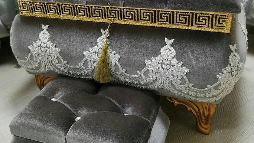 Special 2 boxes set decorated with Luxurious velvet fabric