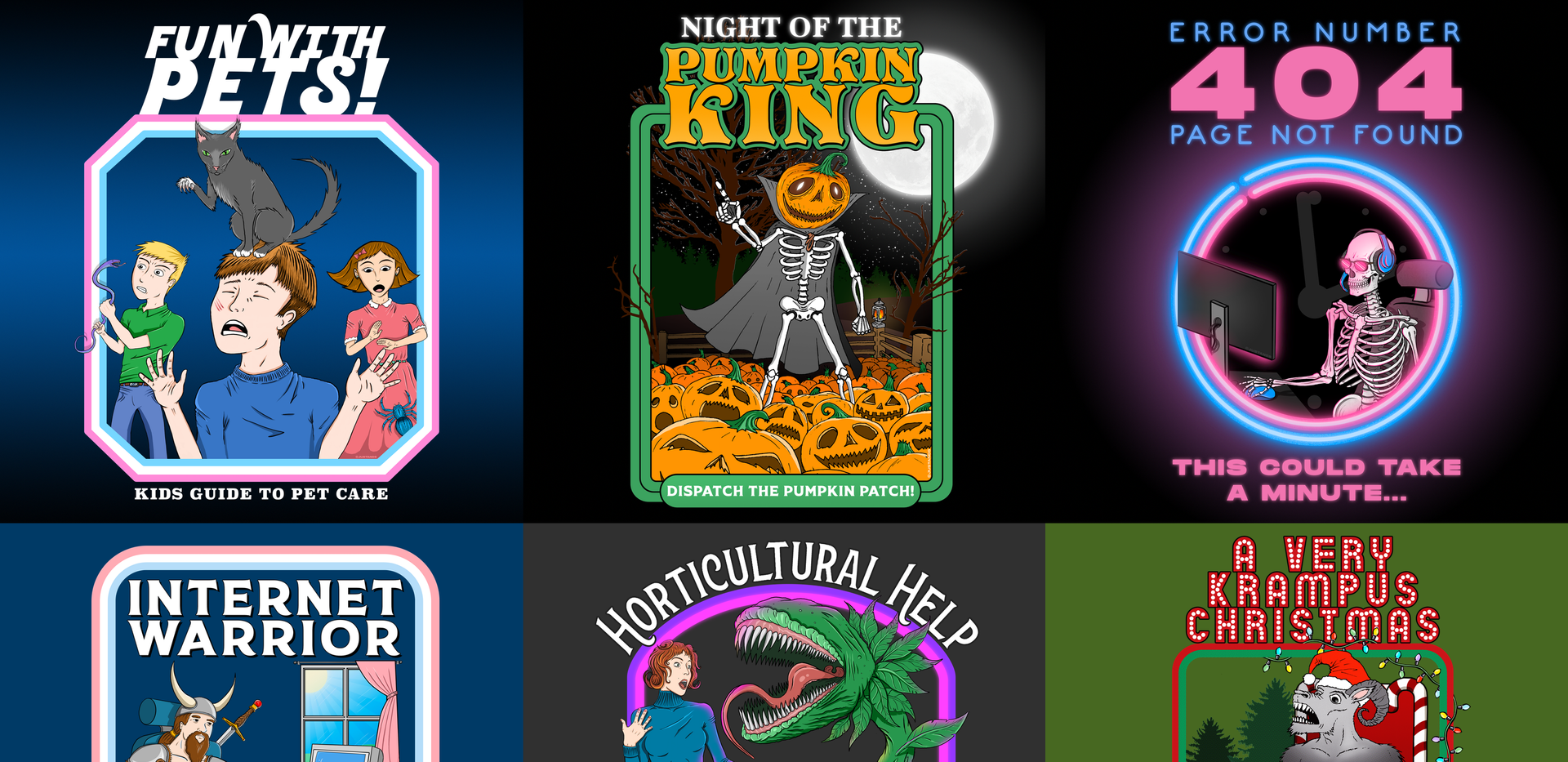 T-Shirt and sticker designs