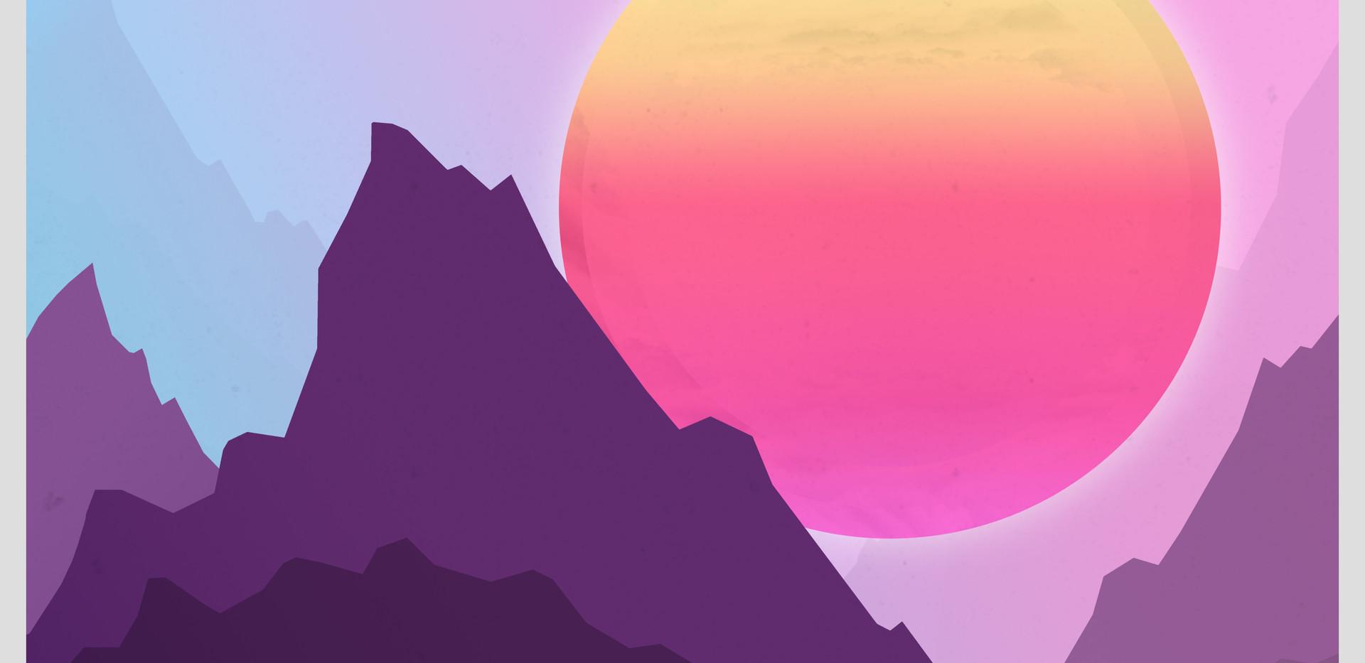 Vaporwave Sunset