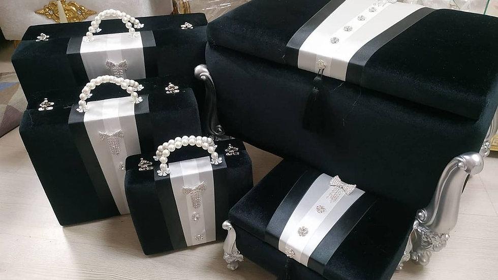 Boxe set of 5 3bags + 2 boxes
