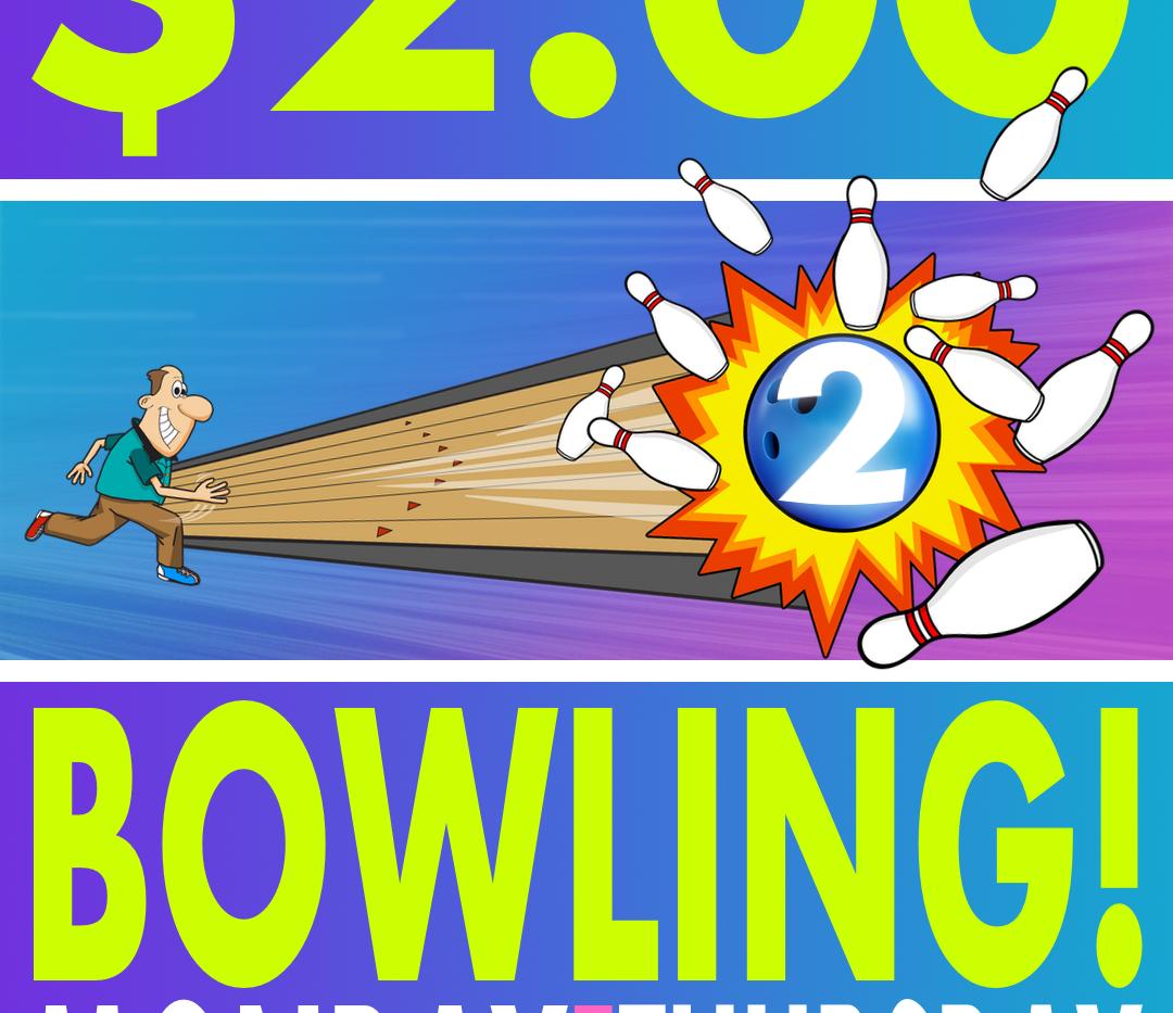$2.00 Bowling Ad