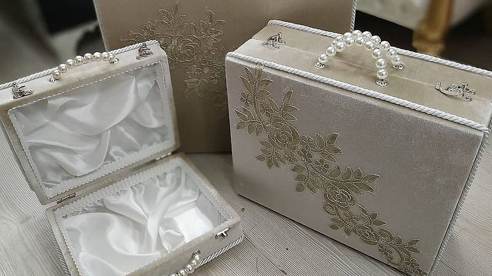 Wedding bag set of 3, make up bags, gift for her