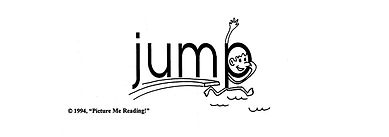 """Look at the picture side of the card for the word """"jump"""".  Picture Me Reading uses visual-conceptual cues for the """"right brain"""", along with aural-conceptual cues for the """"left brain"""" for efficient word mastery and reading comprehension."""