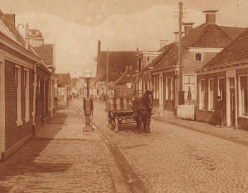 Dorpsstraat Aduard paard en wagen.jpg