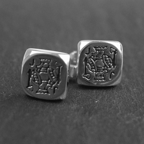 Jack the Lad sterling silver cufflinks