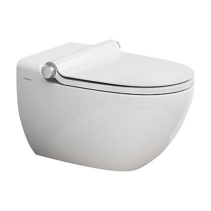 Dusch-WC LAPREVA P2 Wandklosett Keramik Warmwasserdusche mit zusätzlicher Powerf