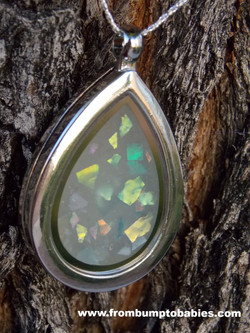 """""""Milky-Opal"""" Locket $85"""