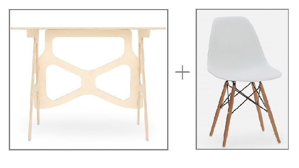 Ensemble: Table de travail et chaise