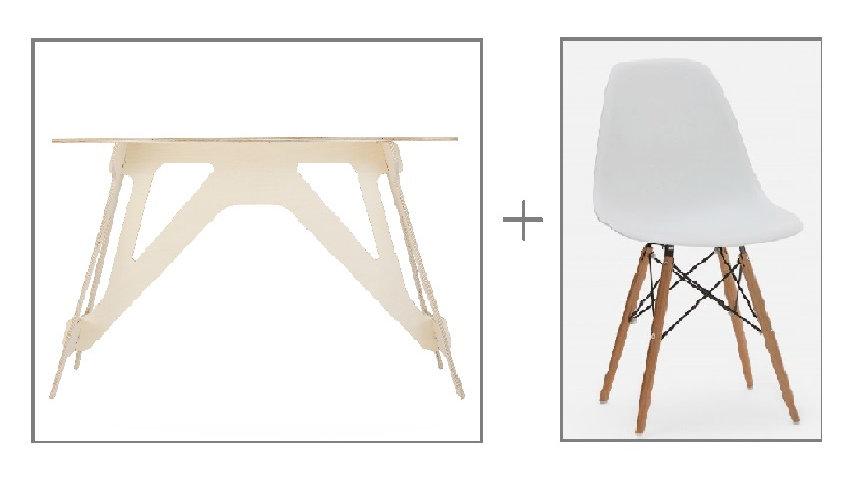 Ensemble table de travail/ Bureau et chaise