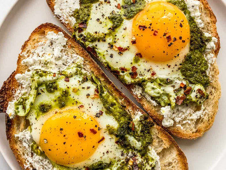 The Internet's First Love Captured in An Egg: Pesto Eggs