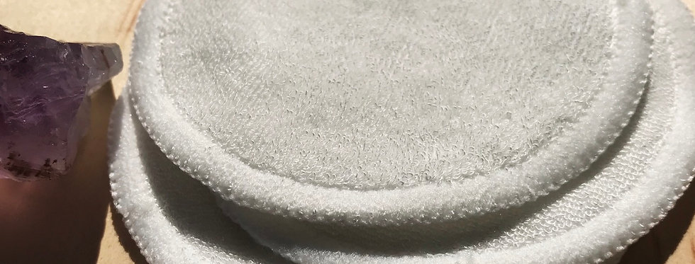 Organic Bamboo Cotton Round Pads(Set of Three)-Reusable
