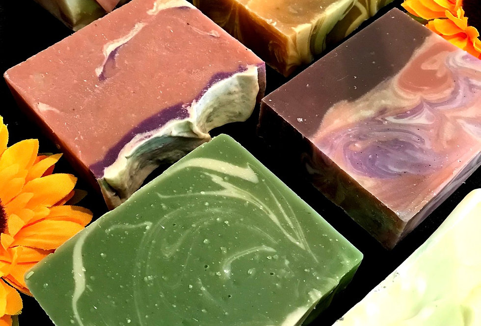 SOAP BAR - All Natural + Herb infused + Essential oils based
