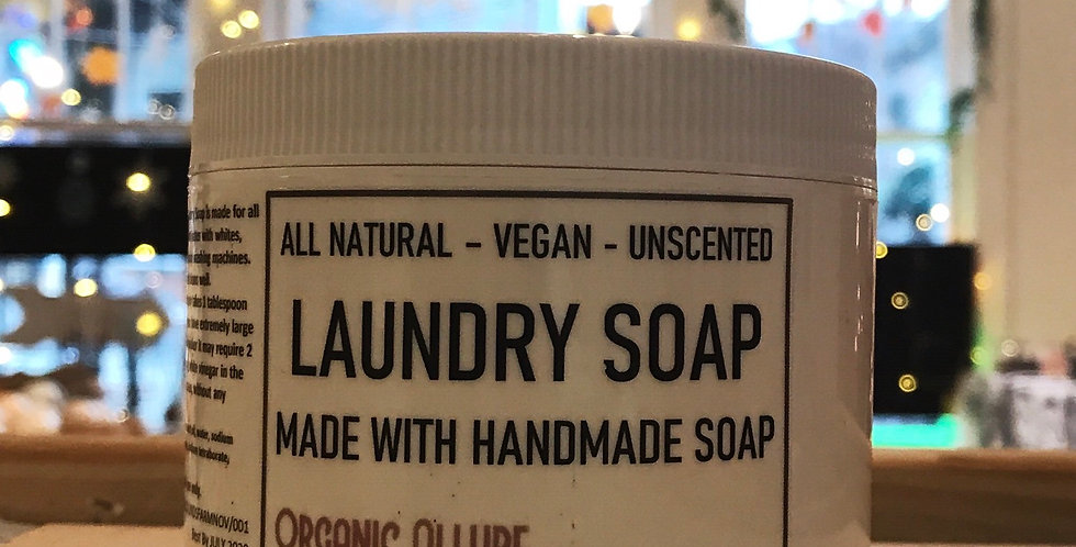 LAUNDRY SOAP POWDER- UNSCENTED-VEGAN- ALL NATURAL