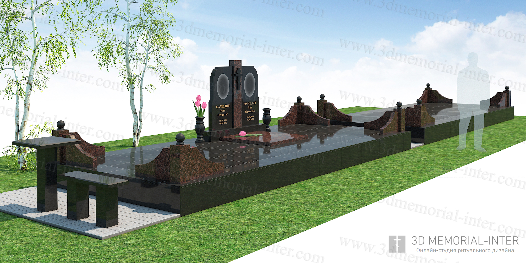 Дизайн ритуального мемориала
