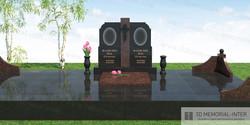 Мемориал с двойной стелой