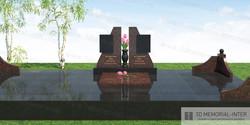 Дизайн памятника с портретной плитой