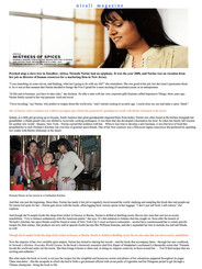 Empress of her own veritable spice empire— Nirmala Narine surveys the world for flavors and spices…is skilled at distilling exotic flavors…Nirali Magazine