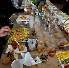 Mindful Team Building, Painting with Spice at Nirmalas Farmstead, NY Hudson Valley