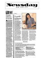 A World of Flavors –Nirmala's recipes remind me that the world is not outside my door. It is always just inside my door, right here in, my kitchen- Newsday Nirmala Narine Long Island Queens