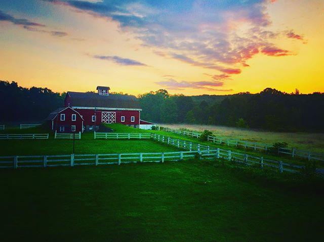 The true morning bliss- my barn at sunri