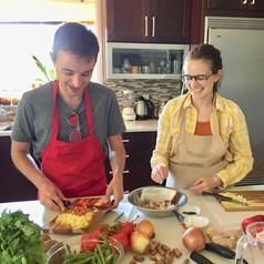 Couples Goal Vegan Cooking Class