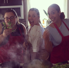 Girl Gang, Escape the office with a cooking class, team building at Nirmalas Farmstead, NY Hudson Valley