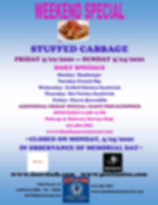 Stuffed Cabbage and Daily Specials_Memor