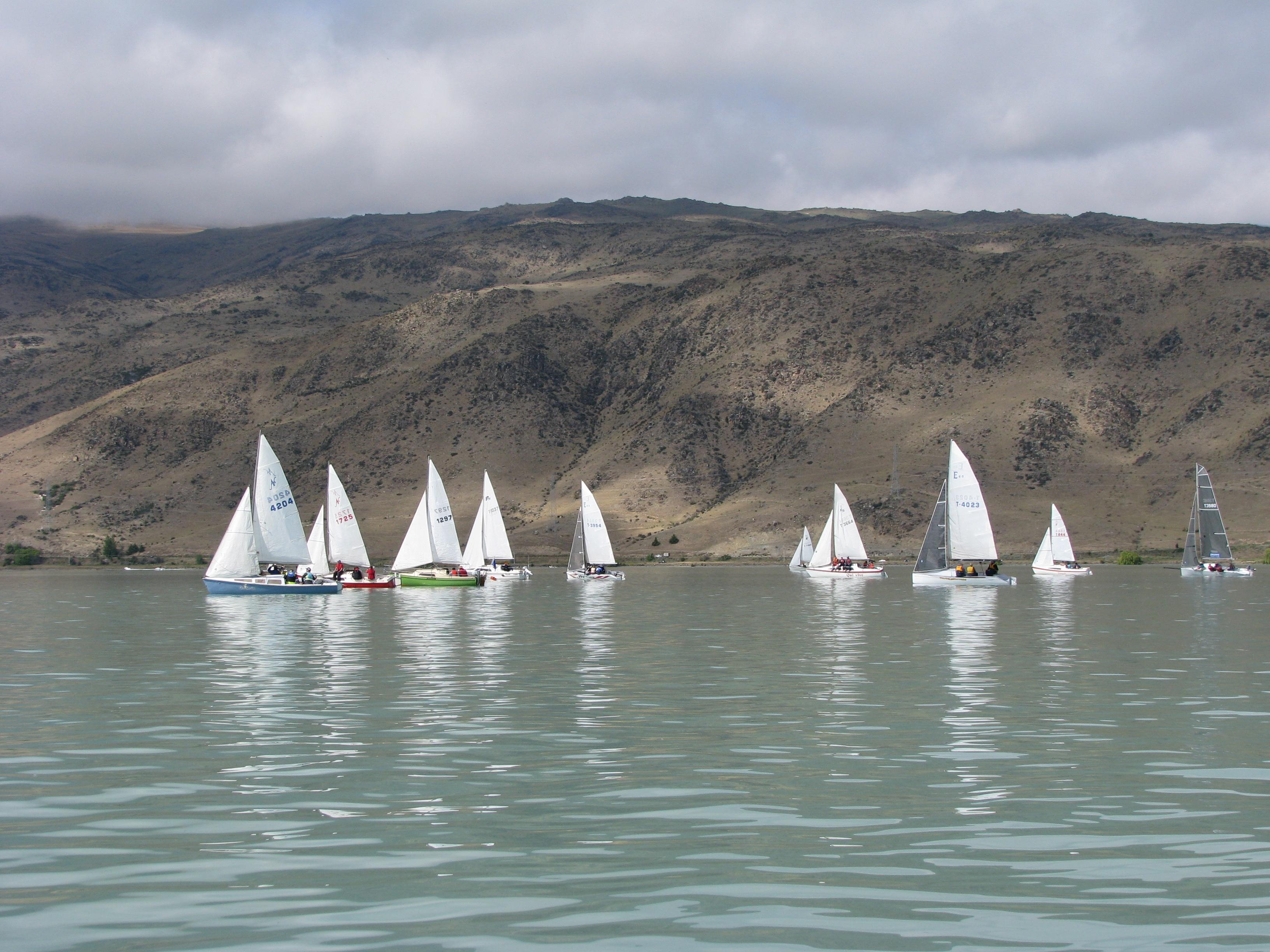 Sailing on Lake Aviemore